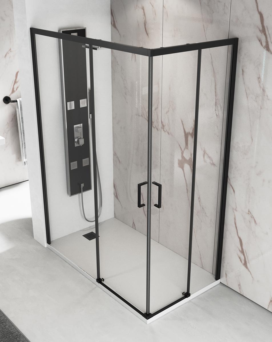 Resguardo de duche preto